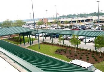 Airport Bus and Taxi Canopies - Savannah, GA